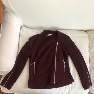 Burgandy oxblood moto jacket